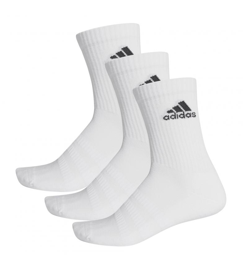 Comprar adidas Pack de 3 calcetines CUSH CRW 3PP blanco
