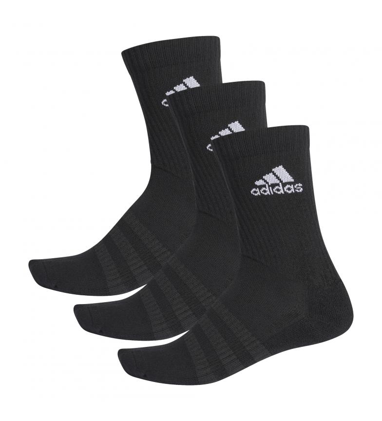 Comprar adidas Pack of 3 socks CUSH CRW 3PP black