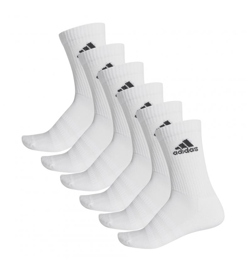 Comprar adidas Pack of 6 socks CUSH CRW 6PP white