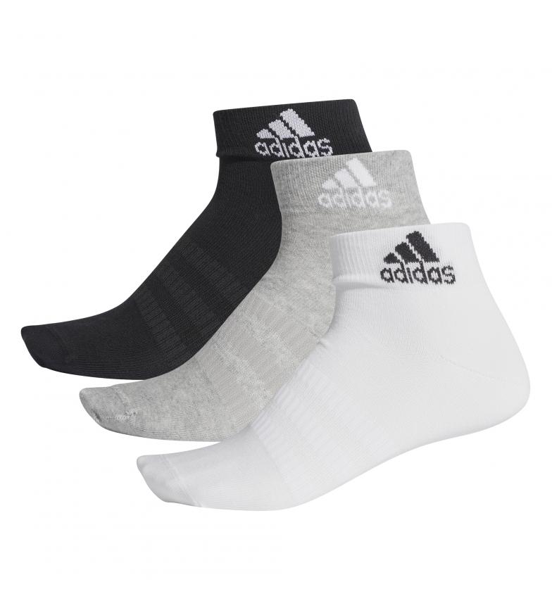 Comprar adidas Pack de 3 calcetines LIGHT ANK 3PP blanco, negro, gris