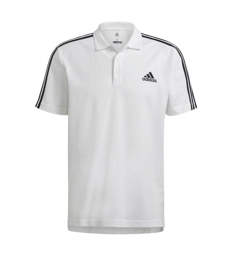 adidas Polo M 3 Stripes Pique Aeroready Essentials branco