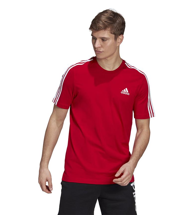 Comprar adidas Essentials 3 Stripes T-Shirt red