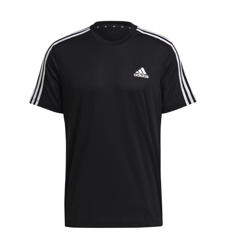 Comprar adidas Aeroready T-Shirt Designed To Move Sport 3 Stripes noir
