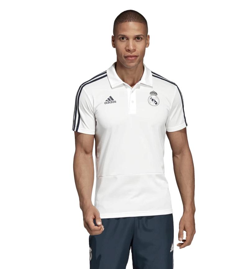 adidas-Polo-Real-Madrid-Hombre-chico-Blanco-Deportivo-Multideporte-Futbol miniatura 4