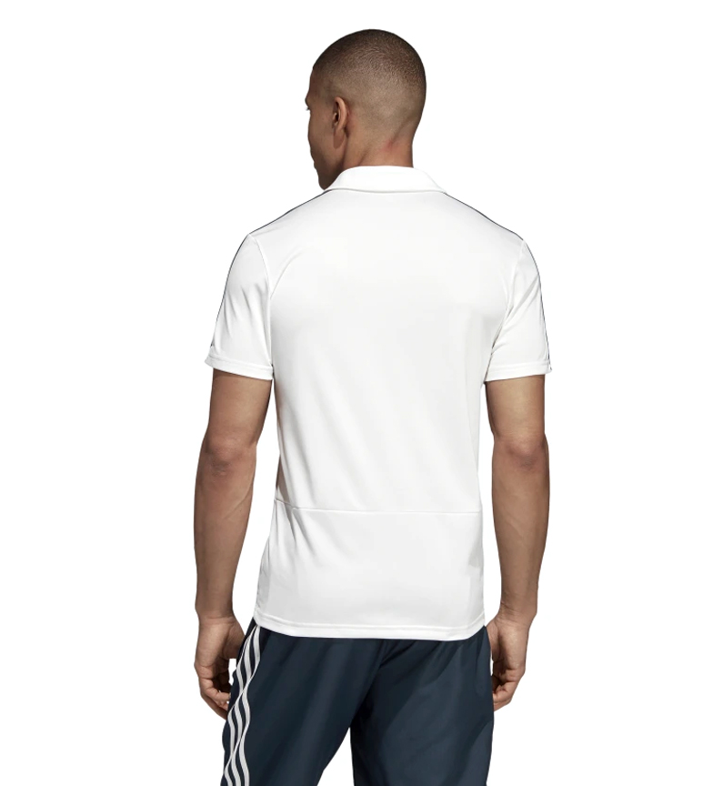 adidas-Polo-Real-Madrid-Hombre-chico-Blanco-Deportivo-Multideporte-Futbol miniatura 6