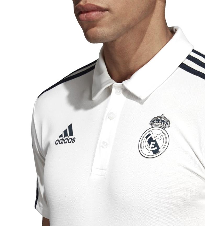 adidas-Polo-Real-Madrid-Hombre-chico-Blanco-Deportivo-Multideporte-Futbol miniatura 7