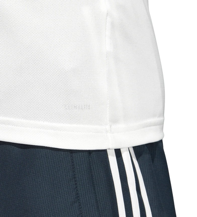 adidas-Polo-Real-Madrid-Hombre-chico-Blanco-Deportivo-Multideporte-Futbol miniatura 8