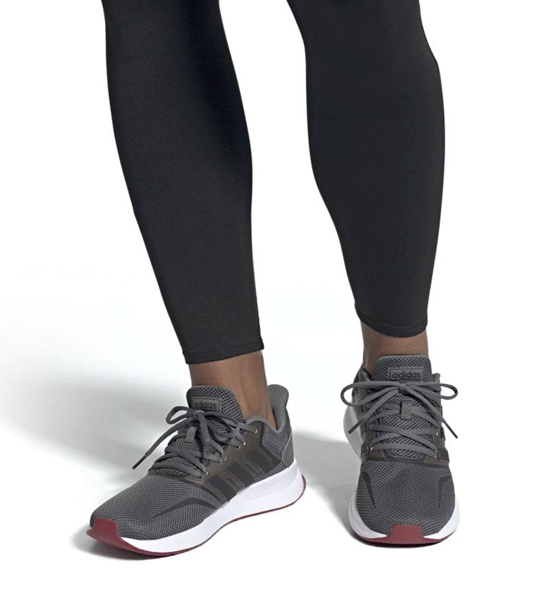 adidas-Sneakers-running-Runfalcon-Homme-Noir-Vert-Blanc-Bleu-Gris-Rouge-Tissu miniature 56