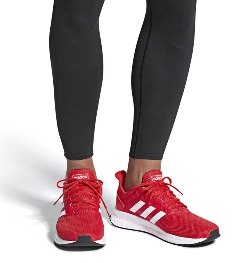 adidas-Sneakers-running-Runfalcon-Homme-Noir-Vert-Blanc-Bleu-Gris-Rouge-Tissu miniature 48