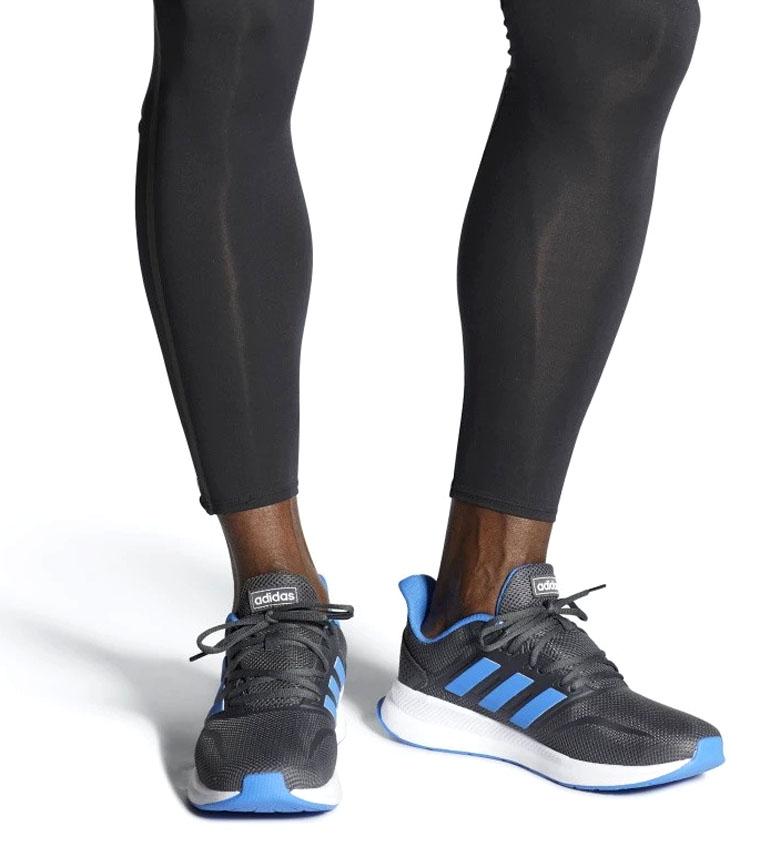 adidas-Sneakers-running-Runfalcon-Homme-Noir-Vert-Blanc-Bleu-Gris-Rouge-Tissu miniature 71