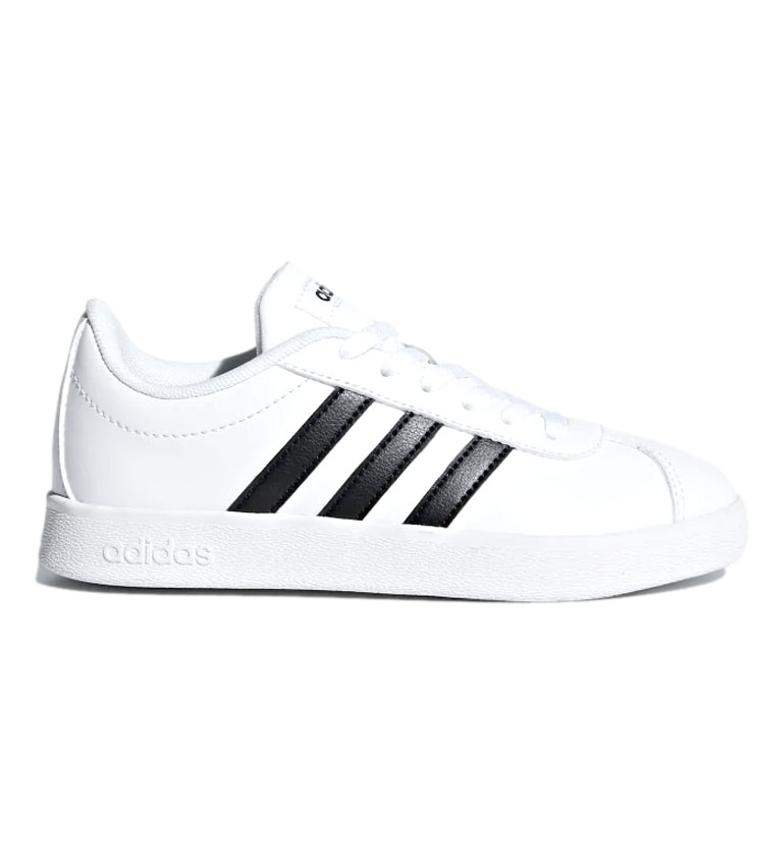 Dettagli su adidas Scarpe bianche VL Court 2.0 Donna Bianco Stringhe Casual Sintetico