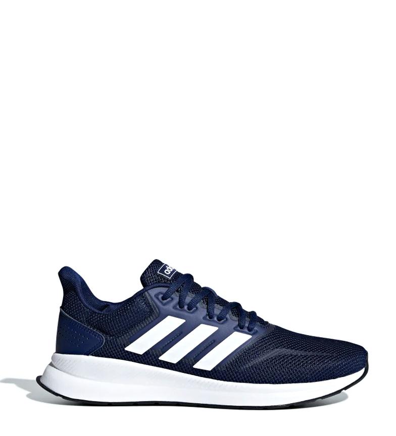 adidas-Zapatillas-de-running-Runfalcon-Hombre-chico-Negro-Blanco-Azul-Gris miniatura 28