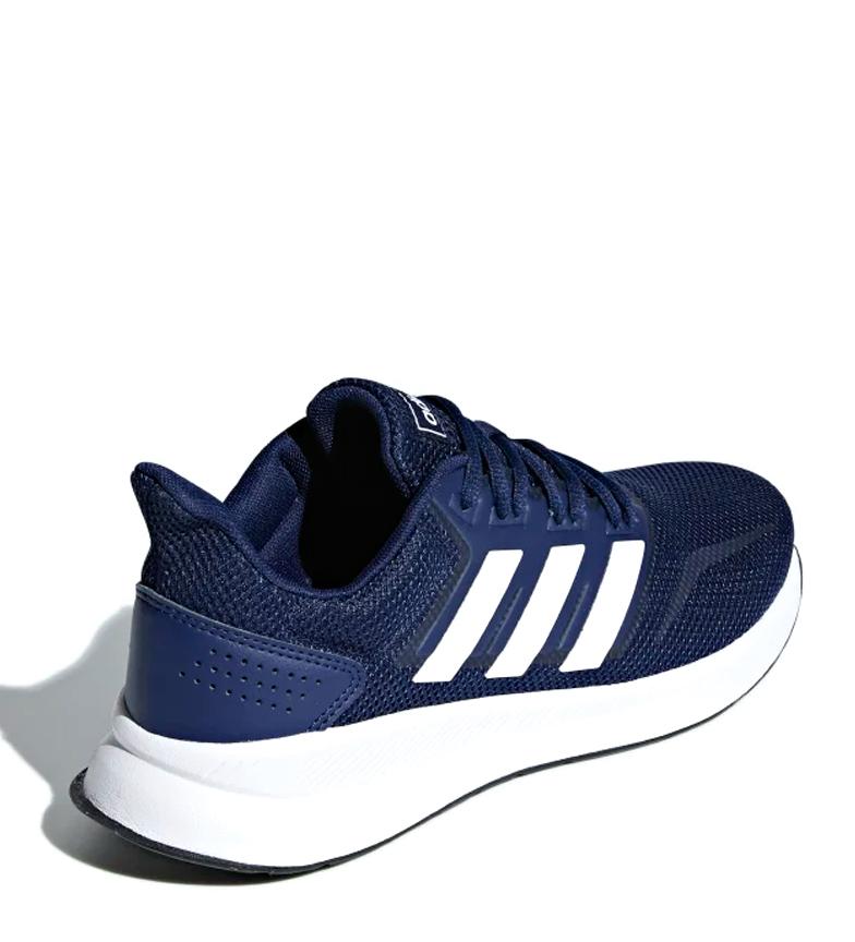 adidas-Zapatillas-de-running-Runfalcon-Hombre-chico-Negro-Blanco-Azul-Gris miniatura 31