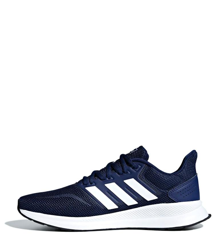 zapatillas adidas azul running