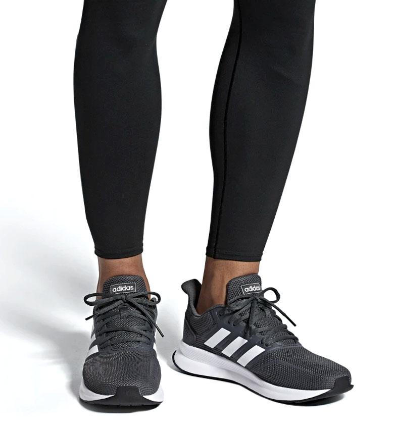 adidas-Zapatillas-de-running-Runfalcon-Hombre-chico-Negro-Blanco-Azul-Gris miniatura 38
