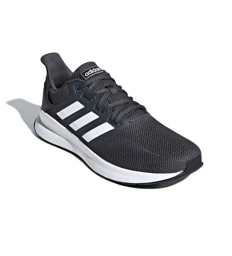 adidas-Zapatillas-de-running-Runfalcon-Hombre-chico-Negro-Blanco-Azul-Gris miniatura 39