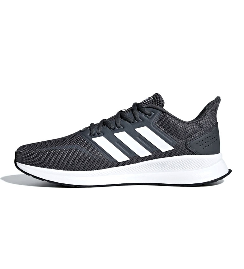 adidas-Zapatillas-de-running-Runfalcon-Hombre-chico-Negro-Blanco-Azul-Gris miniatura 41