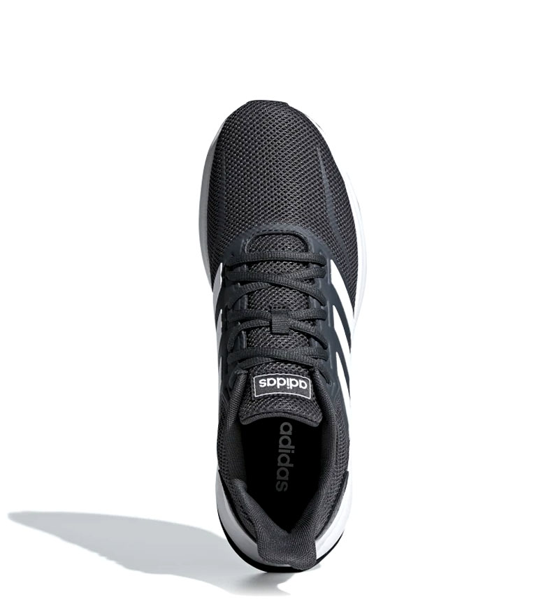 adidas-Zapatillas-de-running-Runfalcon-Hombre-chico-Negro-Blanco-Azul-Gris miniatura 42
