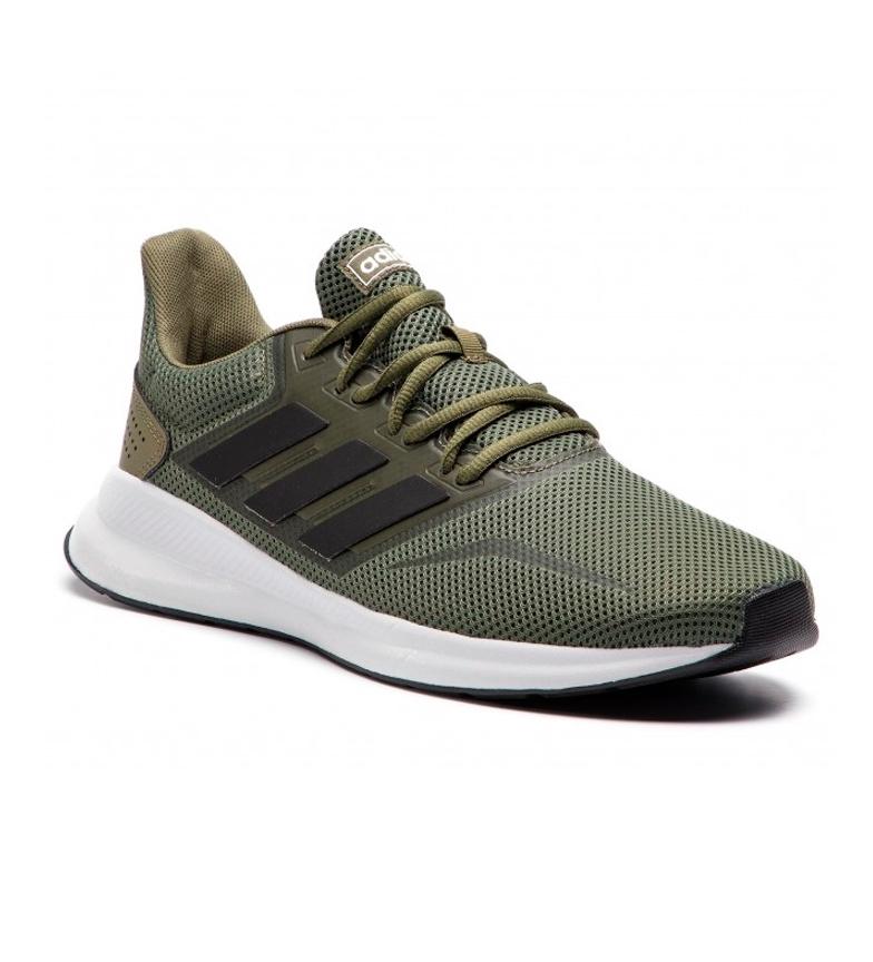 adidas-Sneakers-running-Runfalcon-Homme-Noir-Vert-Blanc-Bleu-Gris-Rouge-Tissu miniature 41
