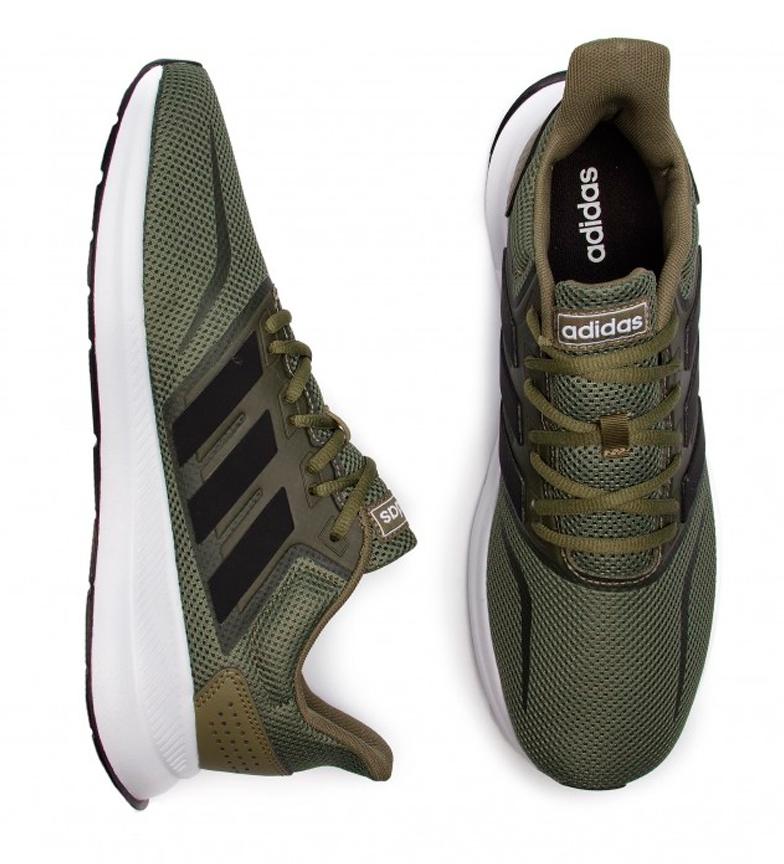 adidas-Sneakers-running-Runfalcon-Homme-Noir-Vert-Blanc-Bleu-Gris-Rouge-Tissu miniature 45