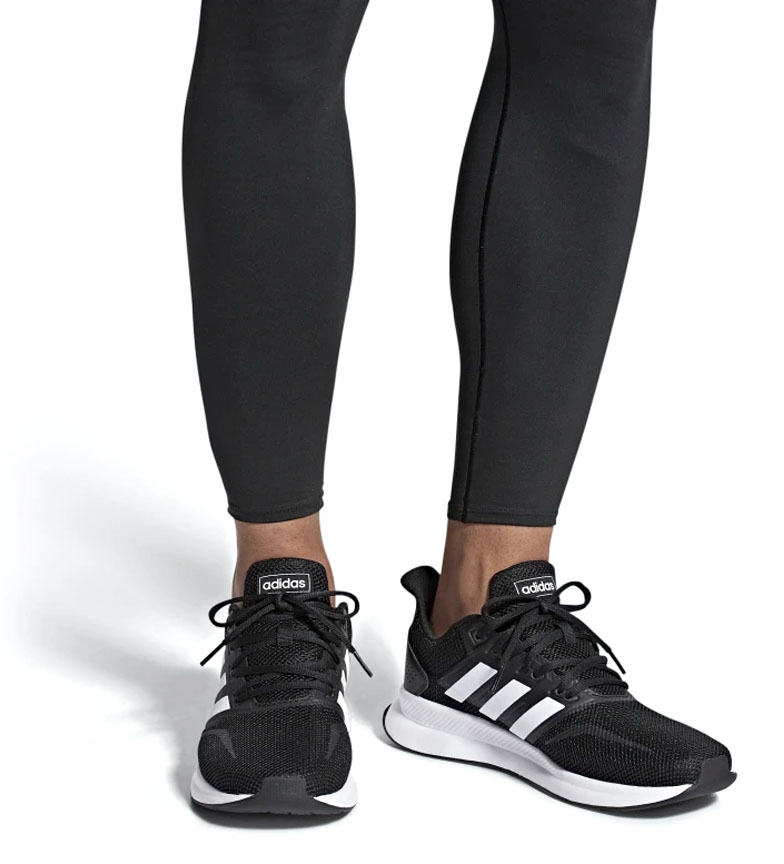 adidas-Zapatillas-de-running-Runfalcon-Hombre-chico-Negro-Blanco-Azul-Gris miniatura 12