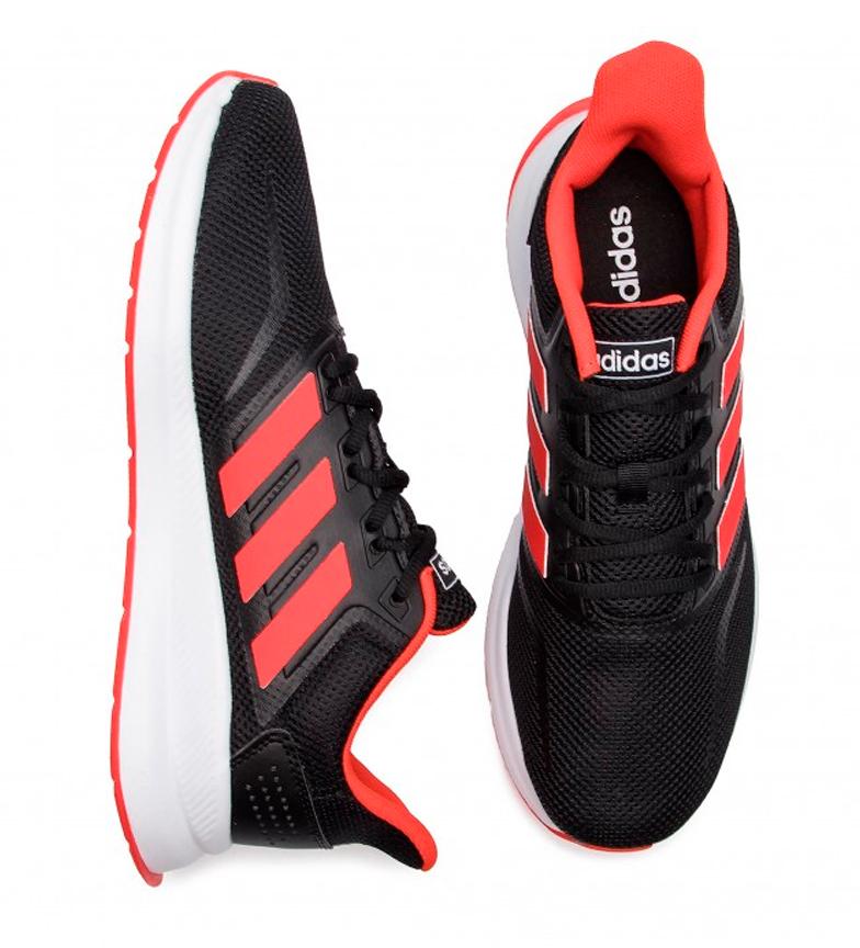 adidas-Zapatillas-de-running-Runfalcon-Hombre-chico-Negro-Blanco-Azul-Gris miniatura 7