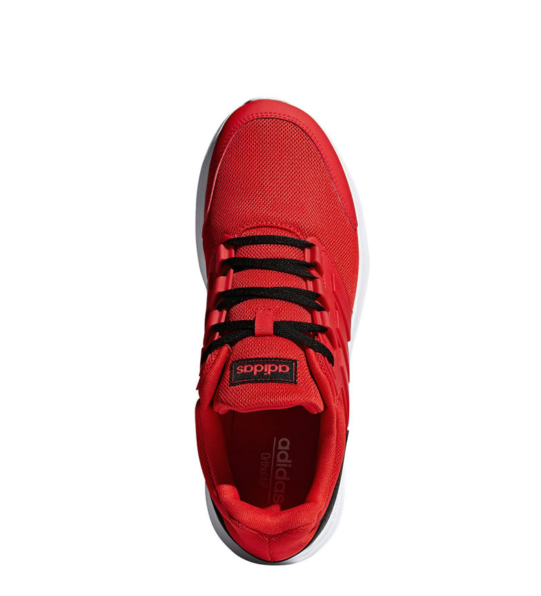 adidas-Sneakers-running-Galaxy-4-Homme-Rouge-Noir-Tissu-Synthetique-Plat