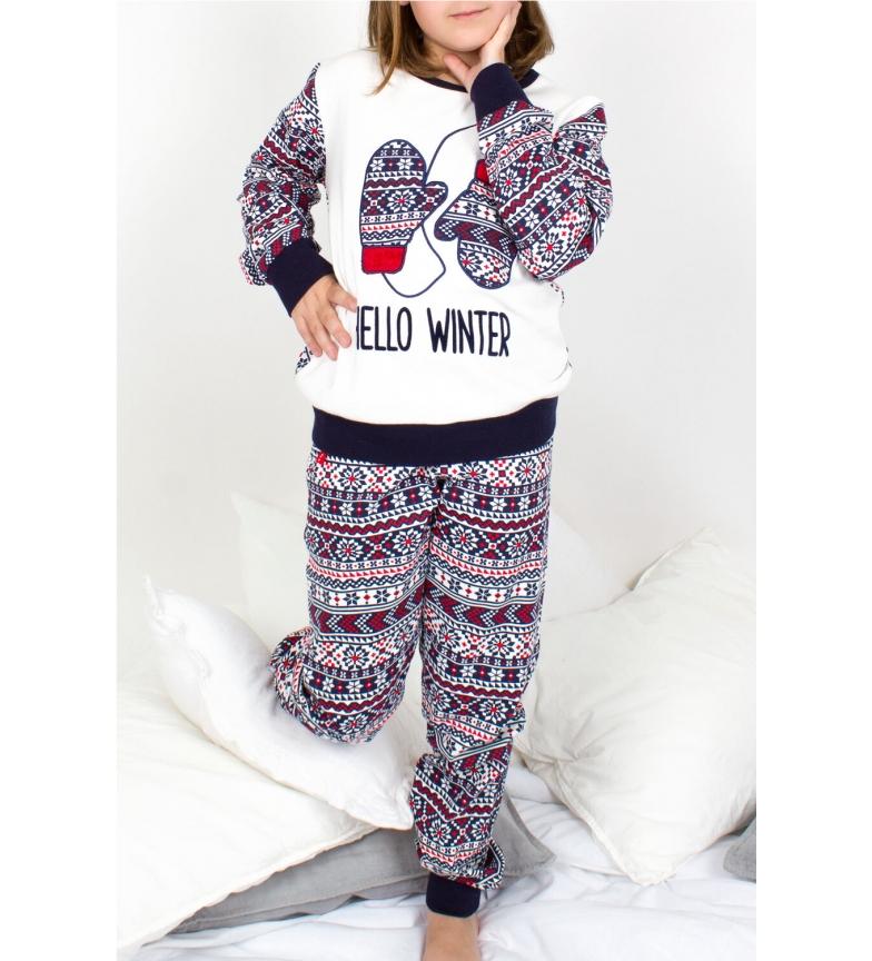Comprar Admas Tween Long Sleeve Pajamas Hello Winter white, blue