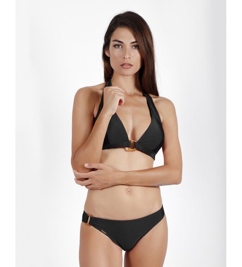 Comprar Admas Bikini nero con scollo all'americana Dubarry