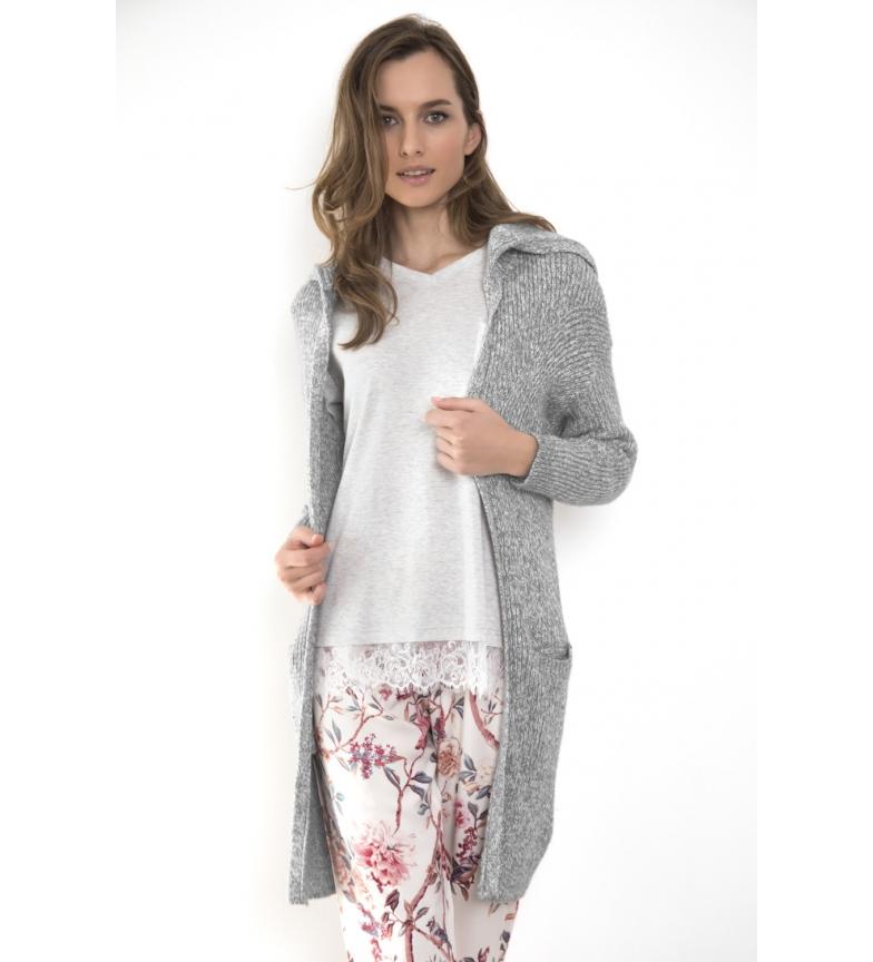 Comprar Admas Veste en tricot à manches longues en lapin doux Gris