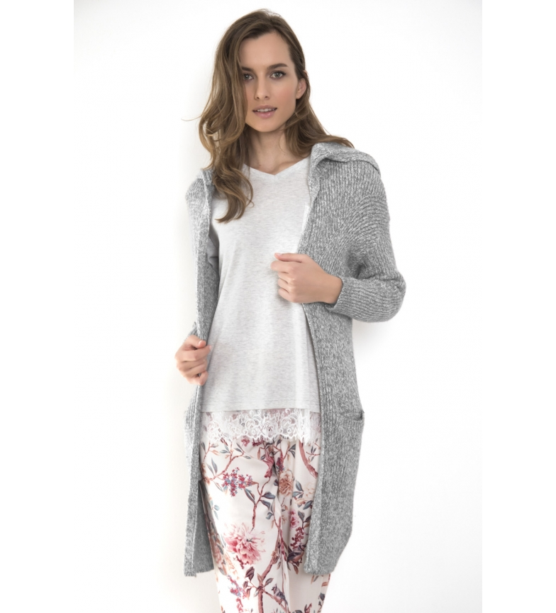 Comprar Admas Soft Rabbit Long Sleeve Knit Jacket Grey