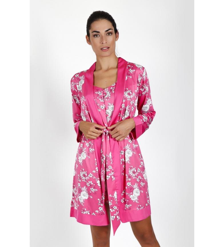 Comprar Admas  Robe à manches longues Pink Flowers