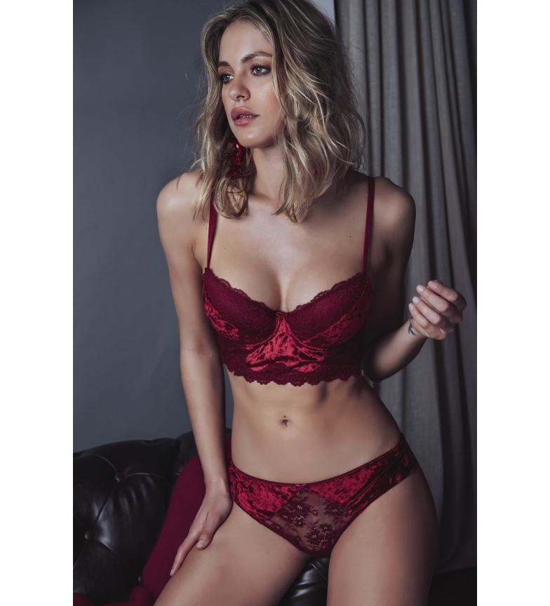 Comprar Admas Set Bustier Push Up and Panty Carioca 44548 red