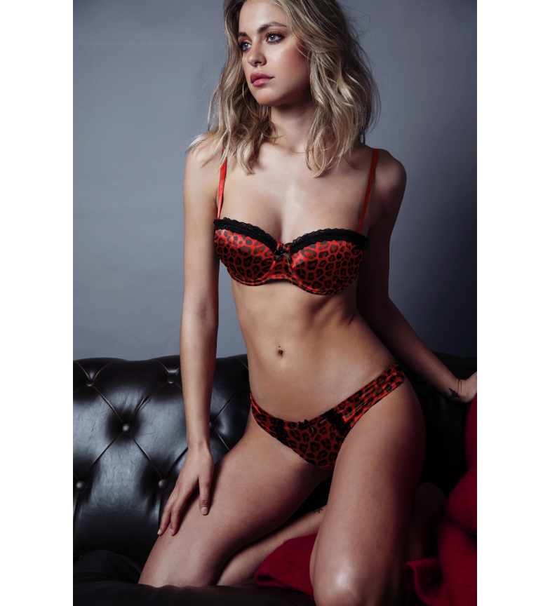 Comprar Admas Red Leopard Push Up and Thong Set 44547