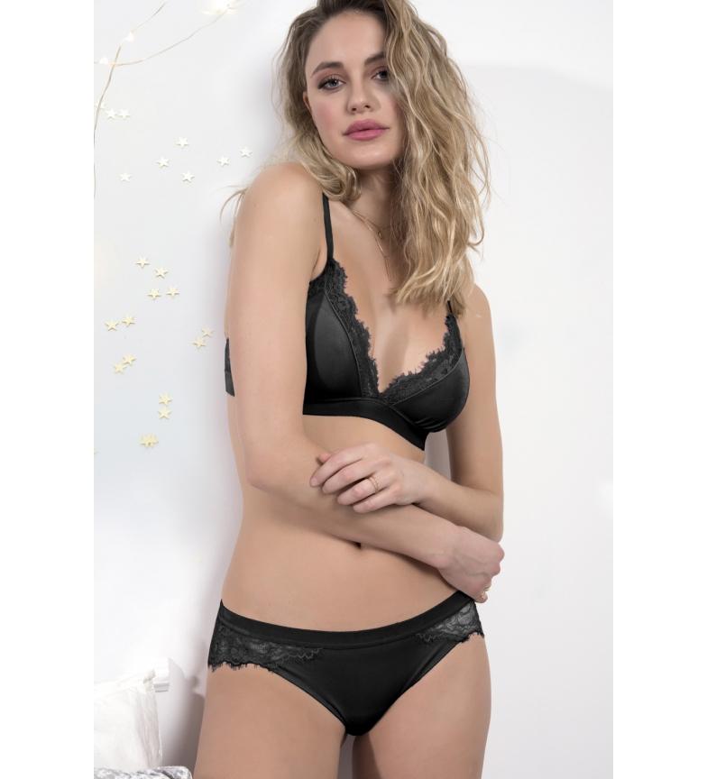 Comprar Admas Conjunto Top y Braga Velvet negro