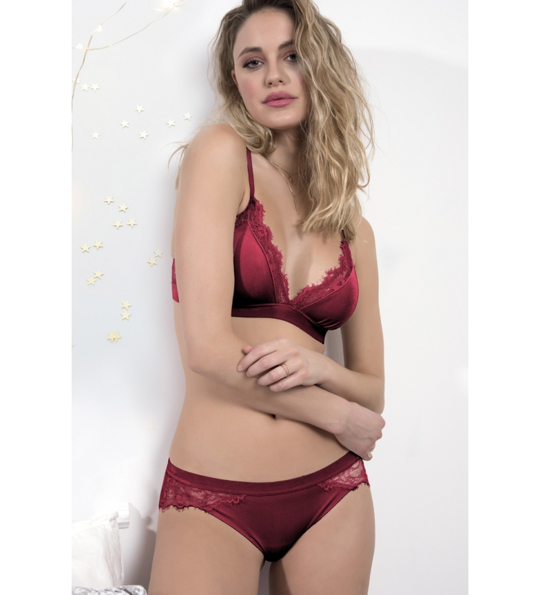 Comprar Admas Velvet Top and Panty Set 44533 red