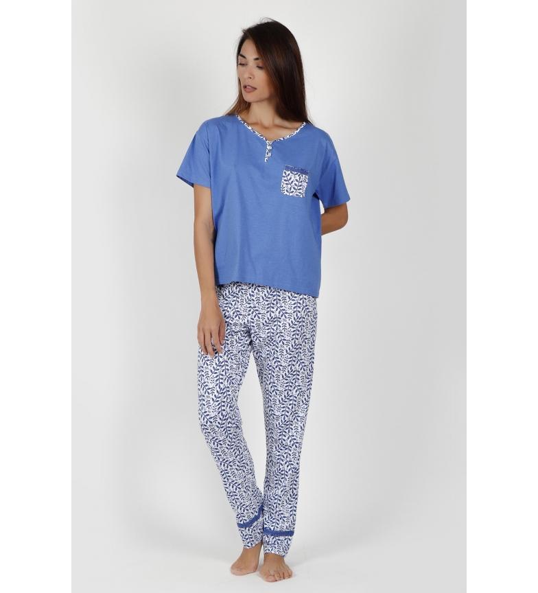 Comprar Admas Pyjama bleu à manches courtes