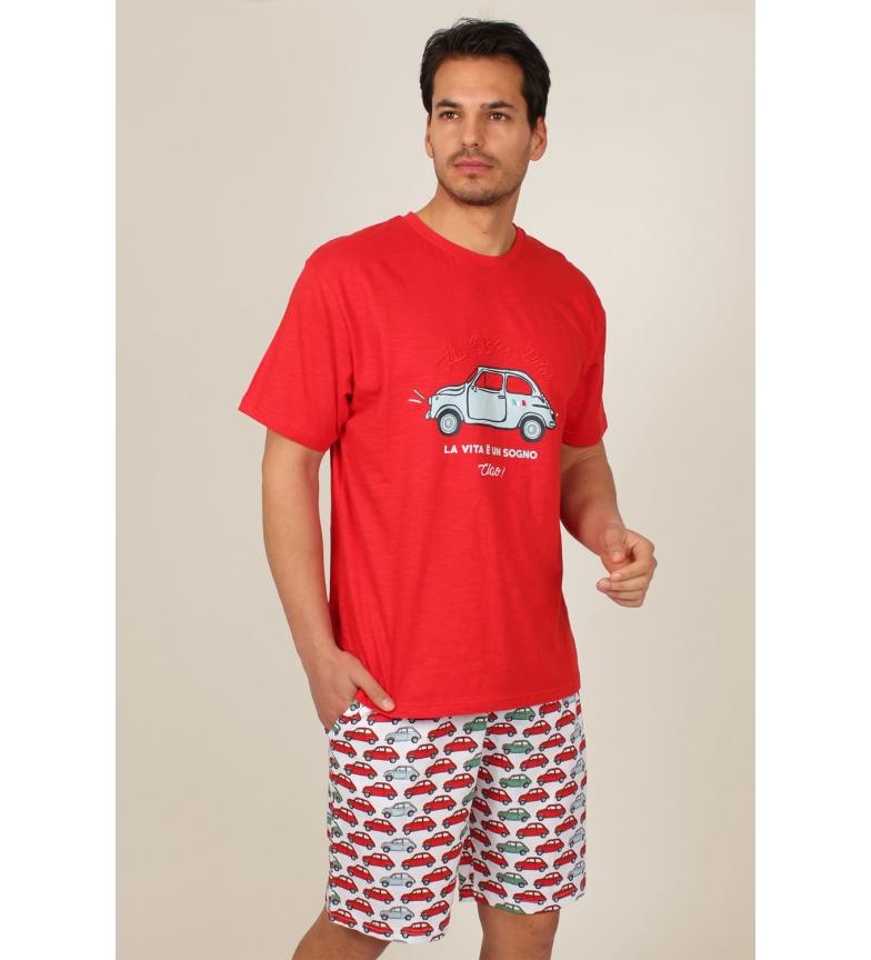 Comprar Admas Pijama Manga Corta La Vita rojo