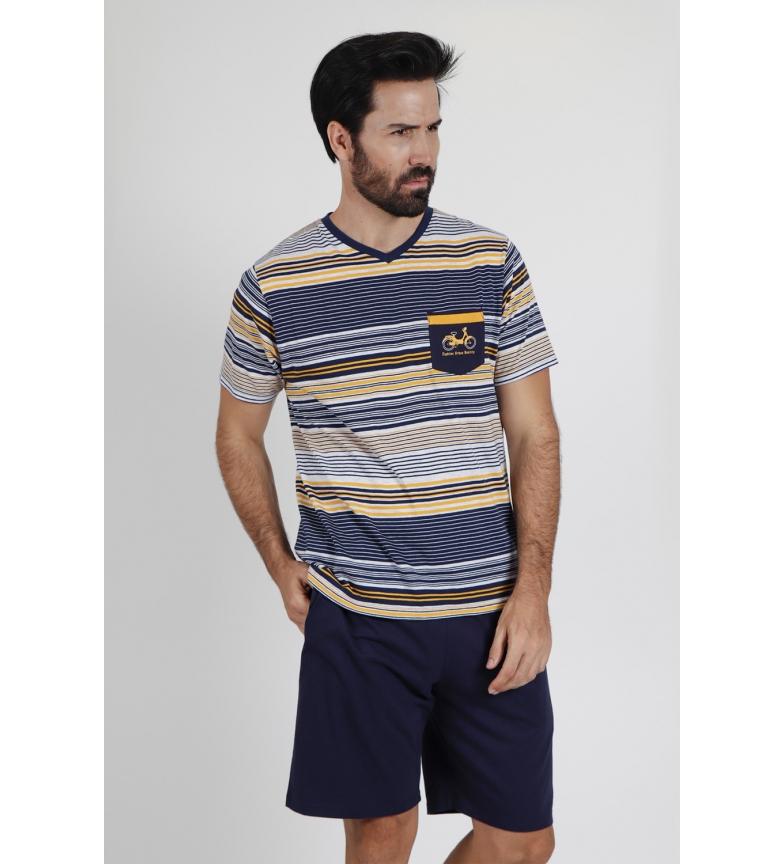 Comprar Admas Mobilidade Manga curta Pijamas Marinha