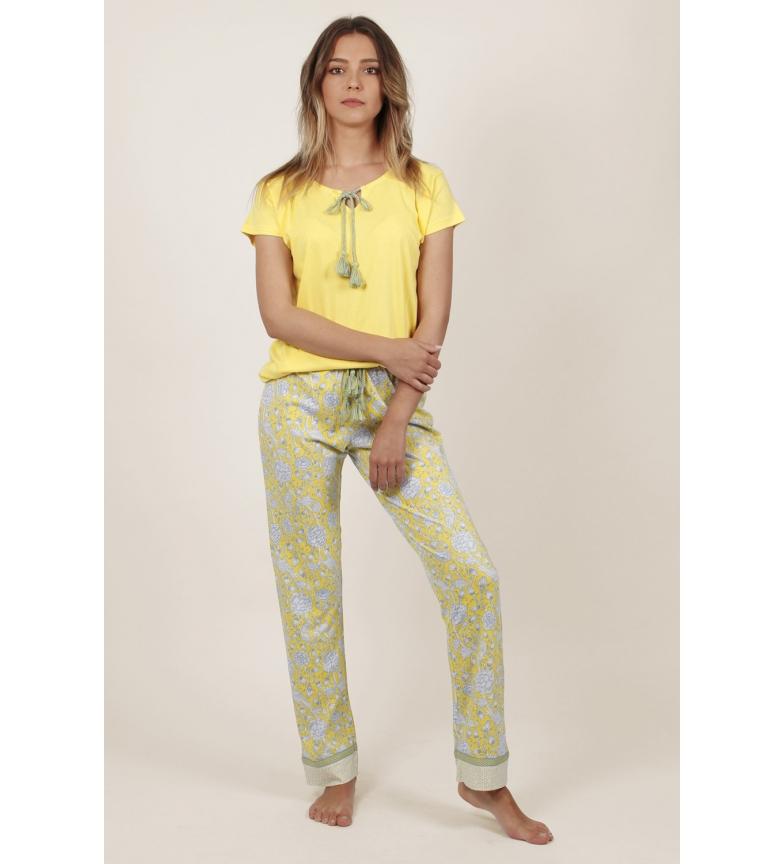 Admas Pyjama jaune à manches courtes Hippy