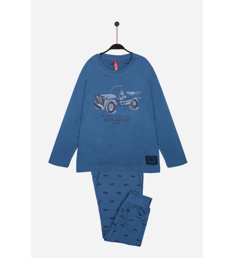 Comprar Admas Pyjama à manches longues Anywhere Bleu