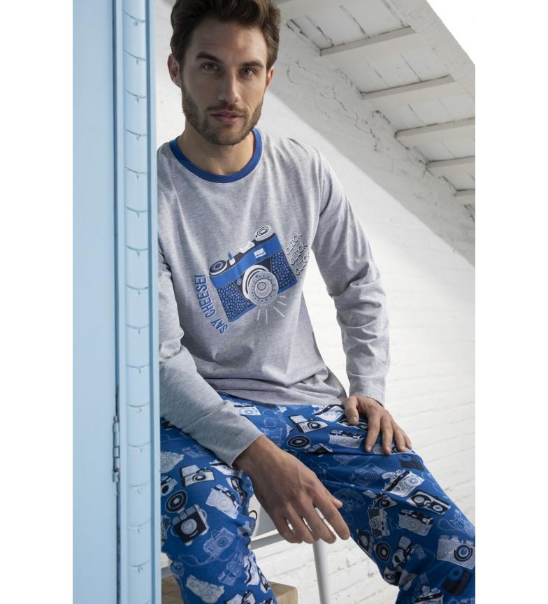 Comprar Admas Clique em Pijama de manga comprida cinzento