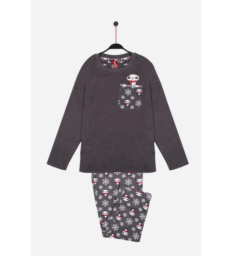 Comprar Admas Cool long-sleeved pajamas Grey Panda