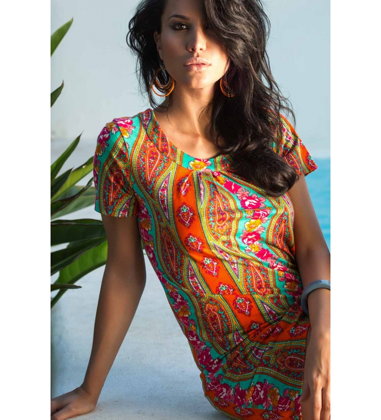 Comprar Admas Vestido Playa Colours Paisley multicolor
