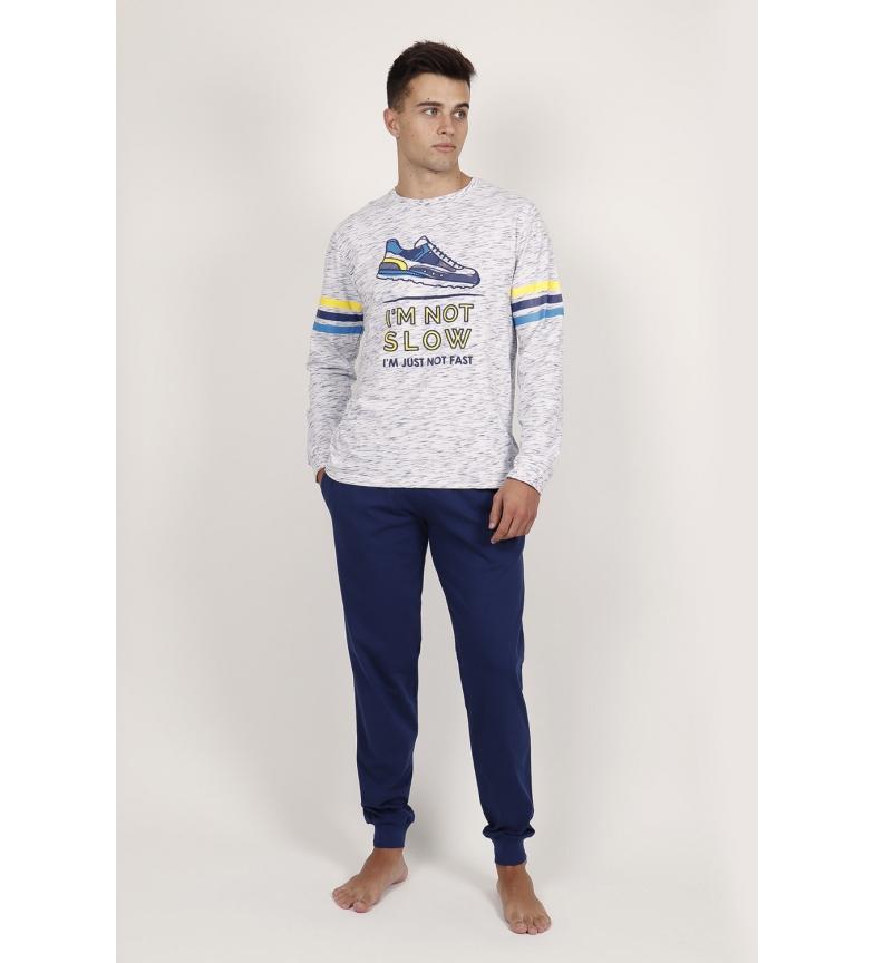 Comprar Admas Pyjama bleu à manches longues