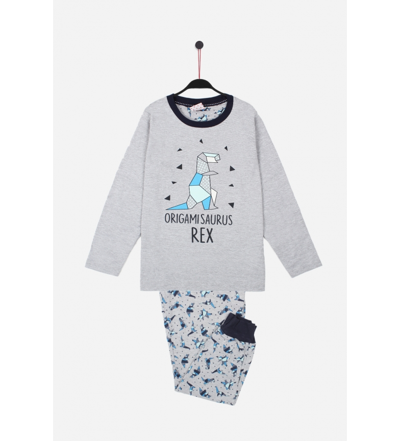 Comprar Admas Grey Origami Long Sleeve Pajamas
