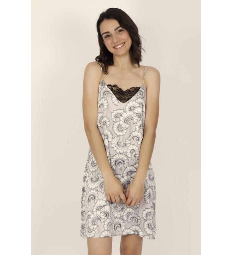 Comprar Admas Camisola Tirantes Soft White Flowers gris