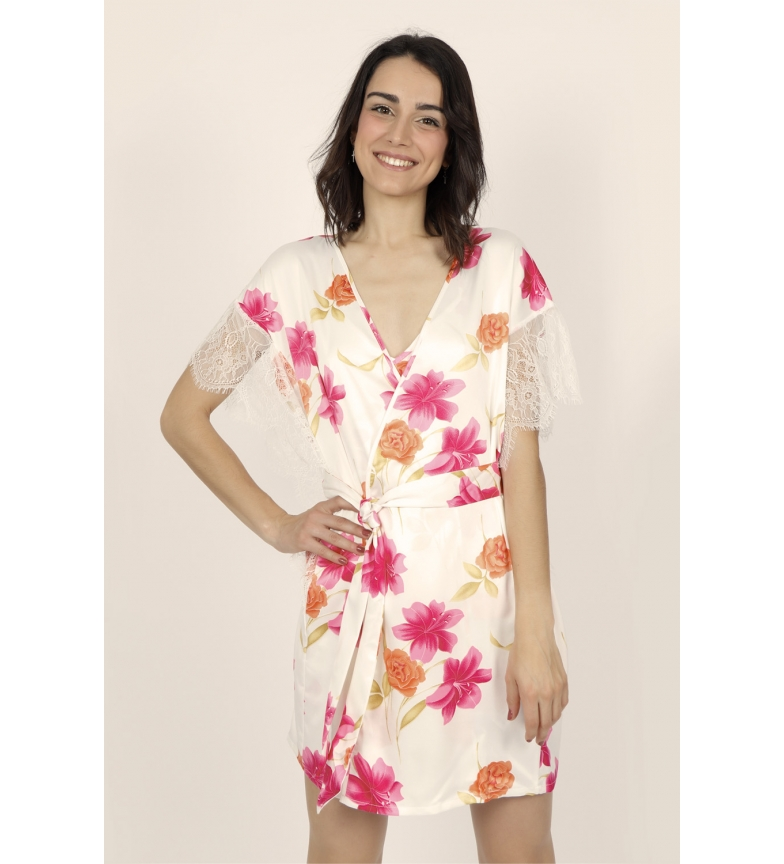Comprar Admas Thai Flowers Women's Short Sleeve Gown