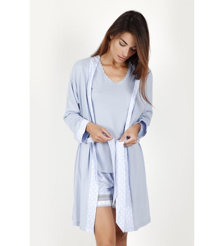 Comprar Admas Pequenos pontos túnica de manga comprida azul