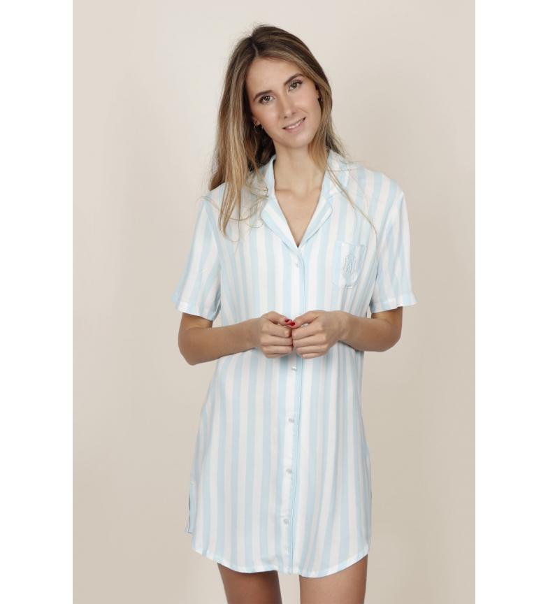 Comprar Admas Camisola Manga Corta Stripes azul